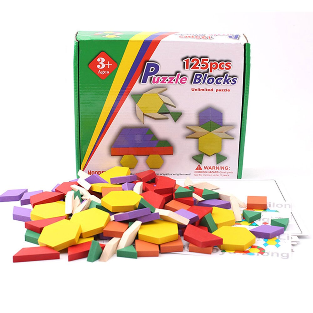 Wooden colourful jigsaw puzzle board set - Science Shop